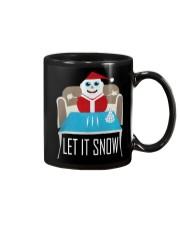 BLUE LET IT SNOW SWEATER Mug thumbnail