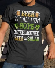 BEER IS MADE FROM HOPS Classic T-Shirt apparel-classic-tshirt-lifestyle-28