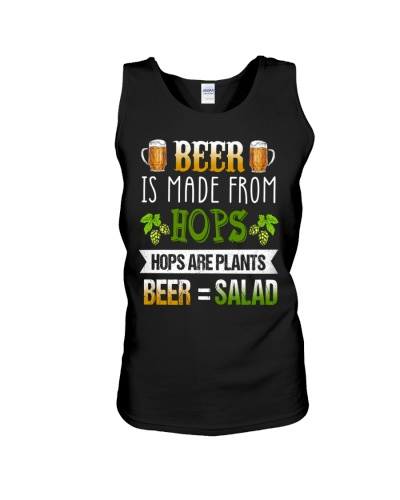 BEER IS MADE FROM HOPS