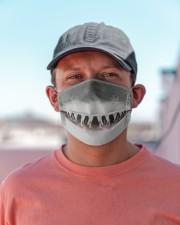 Shark Lovers 1 Cloth face mask aos-face-mask-lifestyle-06