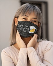 WILL ONLY REMOVE FOR CRAFT BEER Cloth Face Mask - 3 Pack aos-face-mask-lifestyle-17