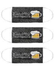 WILL ONLY REMOVE FOR CRAFT BEER Cloth Face Mask - 3 Pack front