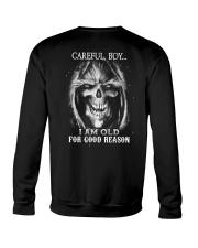 Old man skull Crewneck Sweatshirt thumbnail