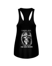 Old man skull Ladies Flowy Tank thumbnail