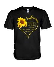 SUNFLOWER MOM V-Neck T-Shirt thumbnail