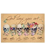 SKULL GOD SAYS YOU ARE 17x11 Poster thumbnail