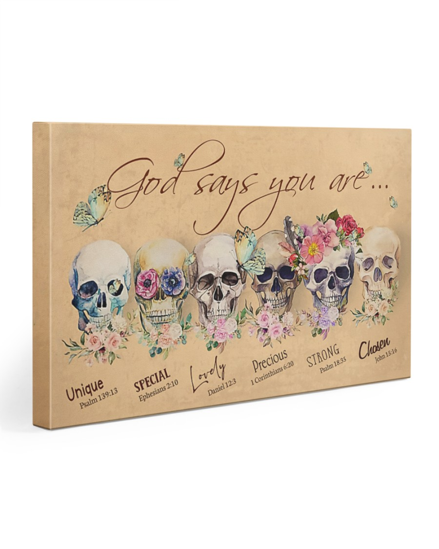 SKULL GOD SAYS YOU ARE 30x20 Gallery Wrapped Canvas Prints