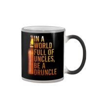 IN A WORLD FULL OF UNCLES BE A DRUNCLE Color Changing Mug thumbnail