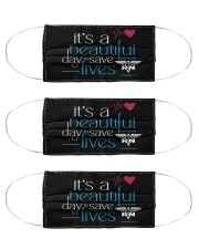 It's A Beautiful Day To Save Lives RN Cloth Face Mask - 3 Pack front