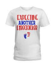EXPECTING ANOTHER FIRECRACKER Ladies T-Shirt thumbnail