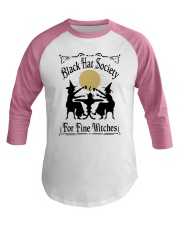 BLACK HAT SOCIETY FOR FINE WITCHES Baseball Tee thumbnail