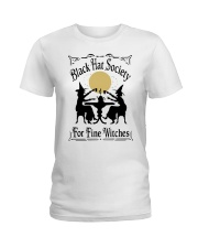 BLACK HAT SOCIETY FOR FINE WITCHES Ladies T-Shirt thumbnail