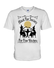 BLACK HAT SOCIETY FOR FINE WITCHES V-Neck T-Shirt thumbnail