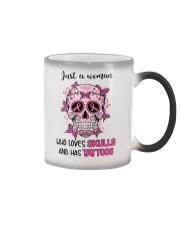 Who loves skulls  Color Changing Mug thumbnail