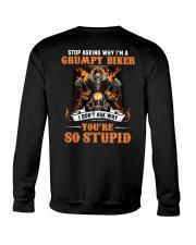GRUMPY BIKER Crewneck Sweatshirt thumbnail