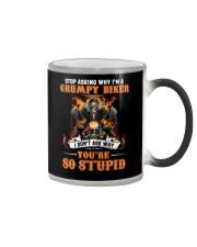 GRUMPY BIKER Color Changing Mug thumbnail