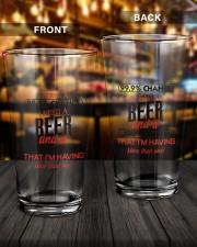 99 Chance 16oz Pint Glass aos-16oz-pint-glass-lifestyle-front-14