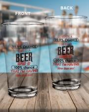 99 Chance 16oz Pint Glass aos-16oz-pint-glass-lifestyle-front-15