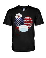HEART NURSE T-SHIRT  V-Neck T-Shirt thumbnail