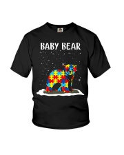 Autism baby bear Youth T-Shirt front
