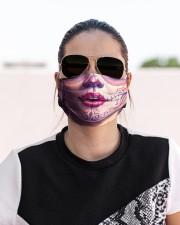 SUGAR SKULL GIRL 3 Cloth face mask aos-face-mask-lifestyle-02