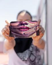SUGAR SKULL GIRL 3 Cloth face mask aos-face-mask-lifestyle-07