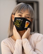 WILL LIFT FOR CRAFT BEER Cloth Face Mask - 3 Pack aos-face-mask-lifestyle-17