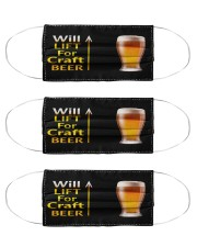 WILL LIFT FOR CRAFT BEER Cloth Face Mask - 3 Pack front
