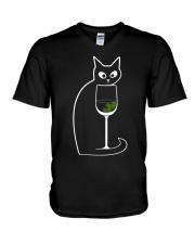 CAT COCKTAIL COSMOPOLITAN V-Neck T-Shirt thumbnail