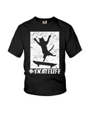 SKATE LIFE - CAT LOVERS Youth T-Shirt thumbnail