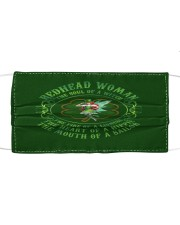 REDHEAD WOMAN Cloth face mask front