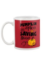 SAVING LIVES Mug back