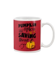 SAVING LIVES Mug front