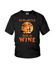 MY BROOMSTICK RUNS ON WINE Youth T-Shirt thumbnail