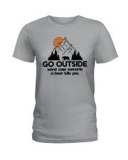 GO OUTSIDE Ladies T-Shirt front