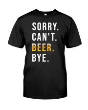 BEER BYE Classic T-Shirt front