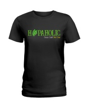 HOPAHOLIC DRINK CRAFT NOT CRAP Ladies T-Shirt thumbnail