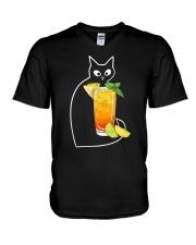 MAI TAI COCKTAIL CAT V-Neck T-Shirt thumbnail