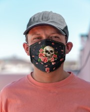 Skull - Floral - 5  Cloth face mask aos-face-mask-lifestyle-06