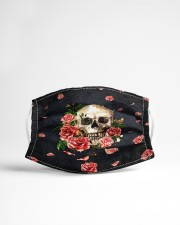Skull - Floral - 5  Cloth face mask aos-face-mask-lifestyle-22