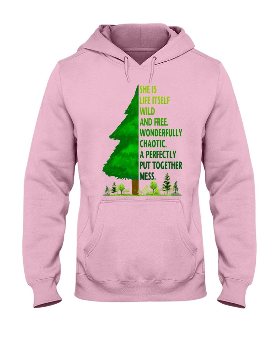 SHE IS LIFE ITSELF WILD AND TREE Hooded Sweatshirt