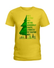 SHE IS LIFE ITSELF WILD AND TREE Ladies T-Shirt thumbnail