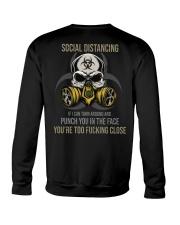 TURN AROUND SOCIAL DISTANCING Crewneck Sweatshirt tile