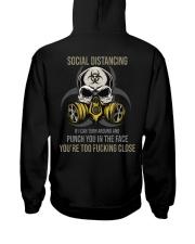 TURN AROUND SOCIAL DISTANCING Hooded Sweatshirt tile