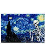 STARRY NIGHT SKULL Horizontal Poster tile