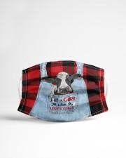 Farm Girl - cows Cloth face mask aos-face-mask-lifestyle-22