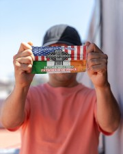 American By Birth Irish By Blood Patriot By Choice Cloth Face Mask - 3 Pack aos-face-mask-lifestyle-05