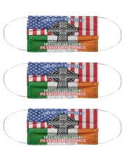 American By Birth Irish By Blood Patriot By Choice Cloth Face Mask - 3 Pack front