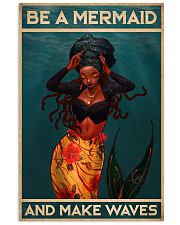 BE A MERMAID AND MAKE WAVES 16x24 Poster front