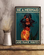 BE A MERMAID AND MAKE WAVES 16x24 Poster lifestyle-poster-3